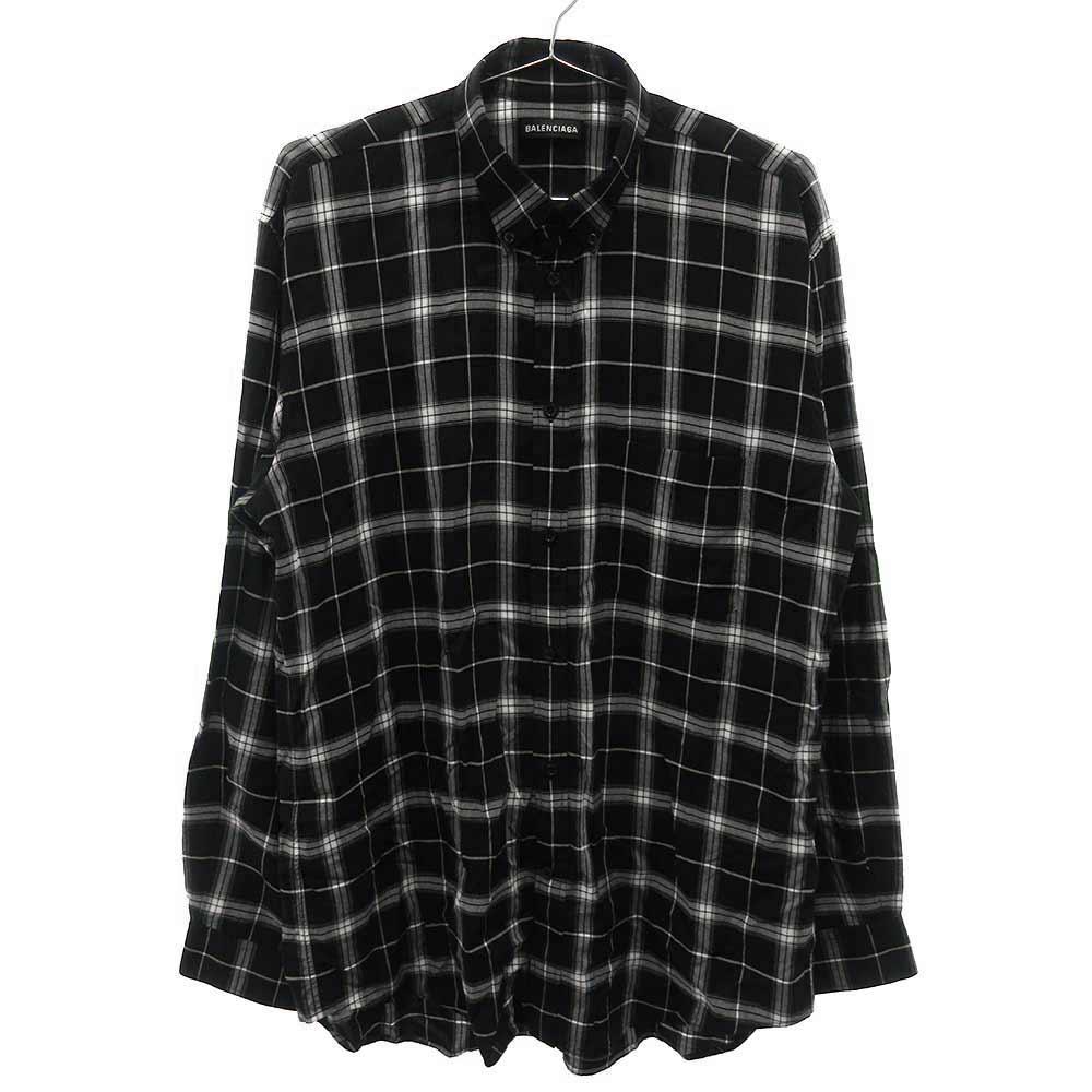 バックロゴ長袖シャツ