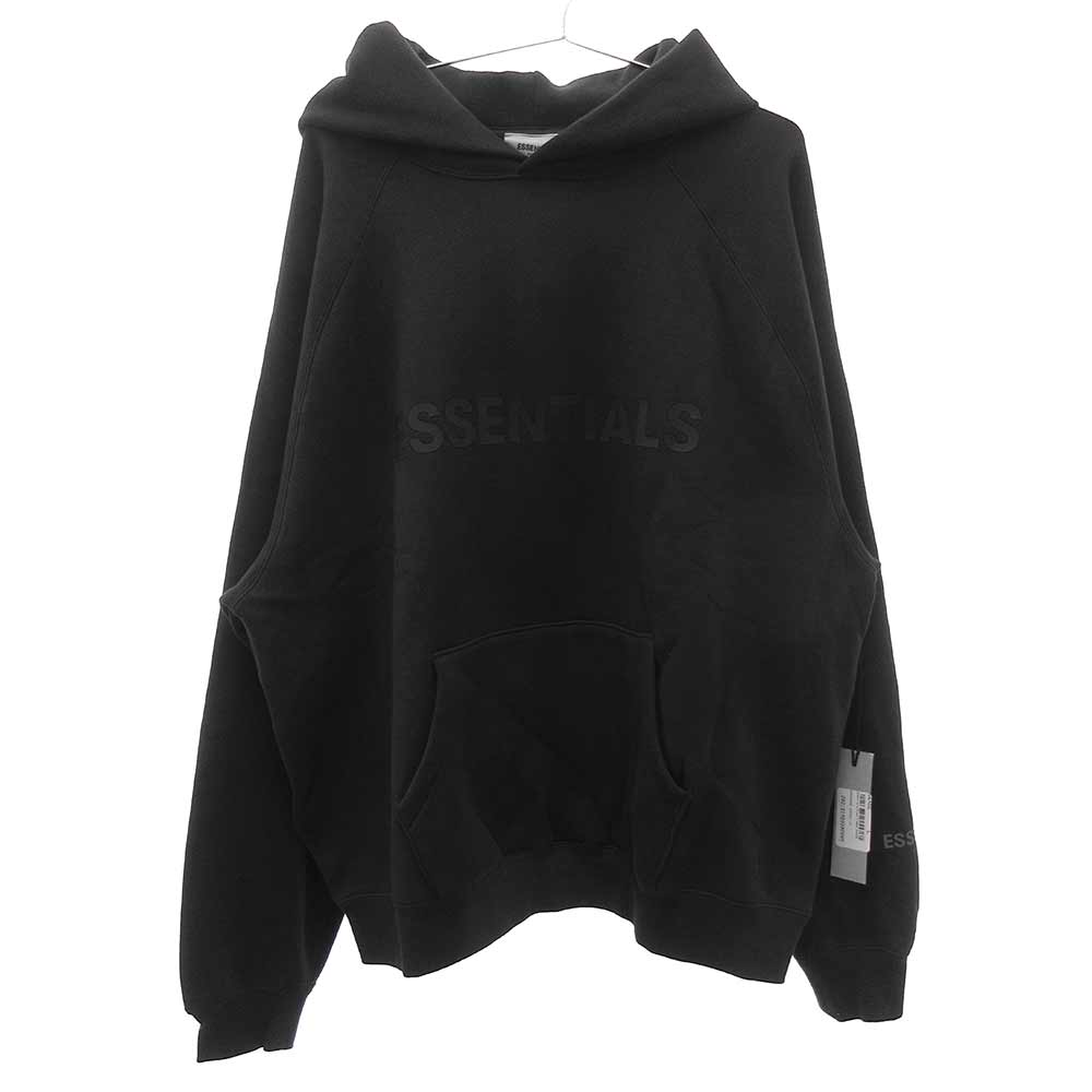 3D SILICON BOXY HOODIEロゴプルオーバーパーカー