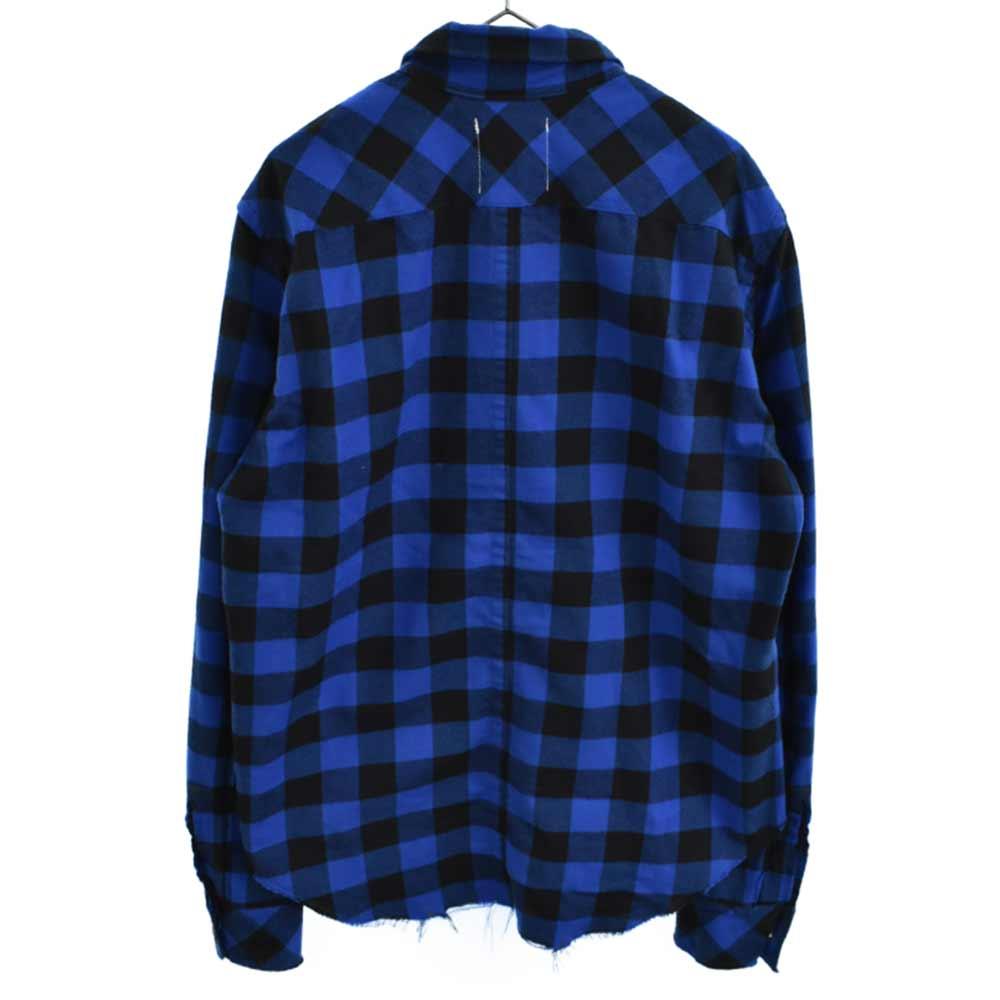 PRIMALOFT ブロックチェック柄ハーフジップ長袖ワークシャツ