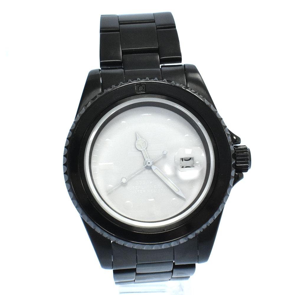 ×JAM HOME MADE DIAMOND WATCH ダイヤモンドウォッチ 白文字盤クォーツダイバーズウオッチ ブラック 腕時計 ジャムホームメイド