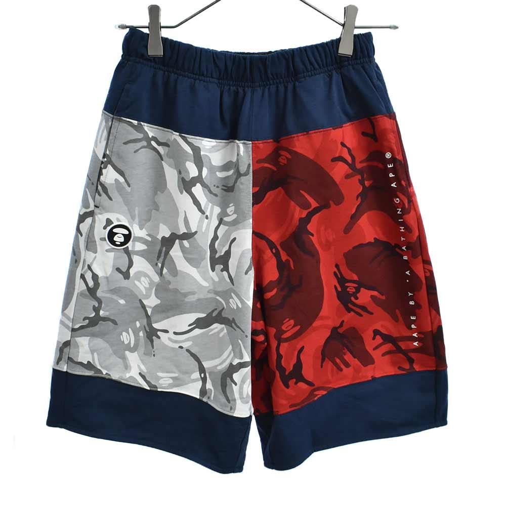 ×Tommy Jeans トミージーンズ ロゴプリントサルカモ迷彩柄リバーシブルスウェットショートパンツ ハーフ ショーツ