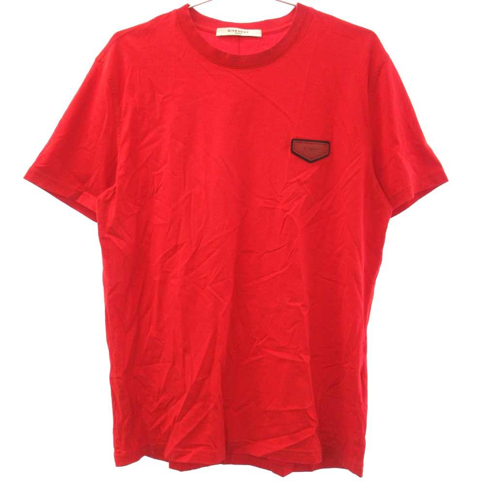 左胸レザーロゴパッチ Tシャツ