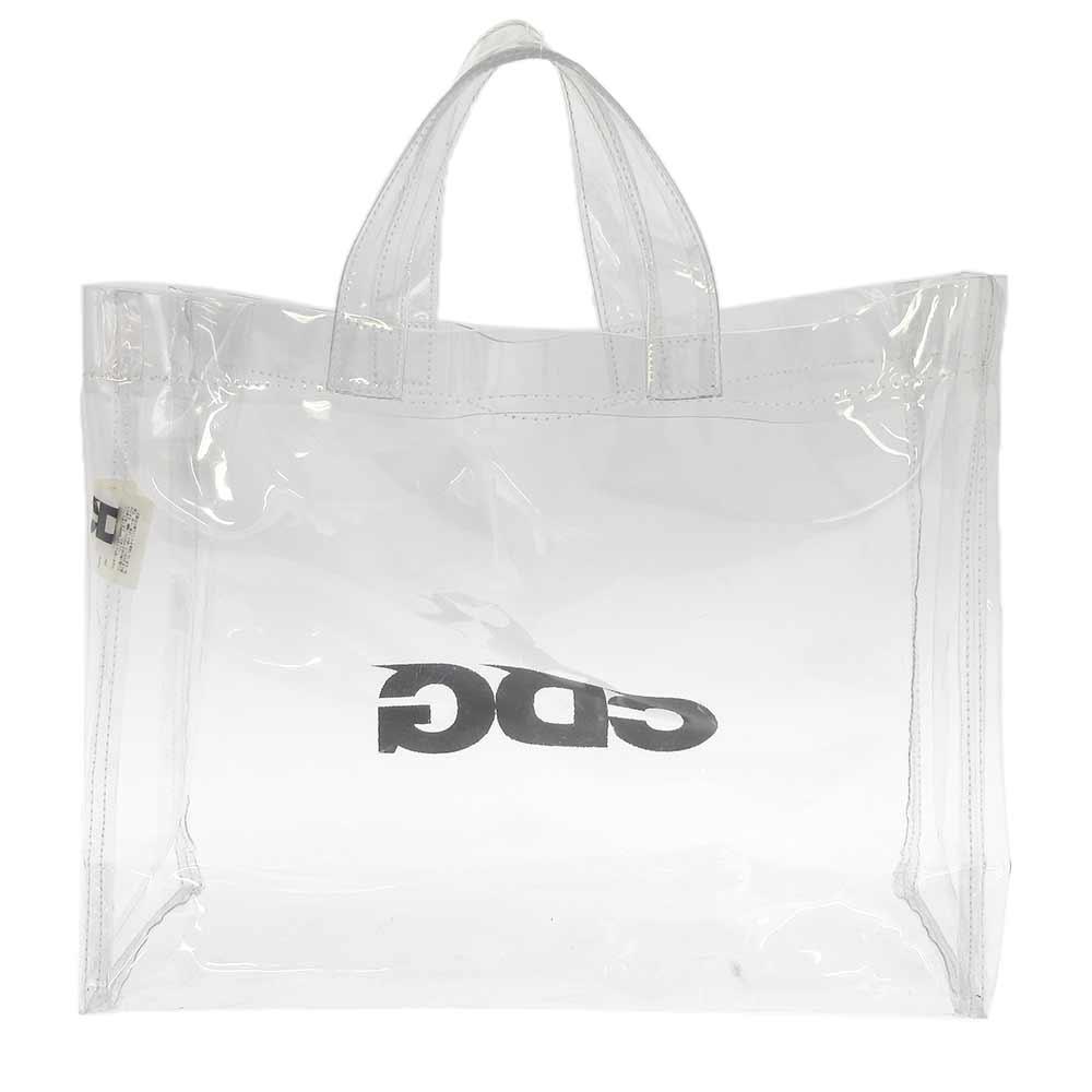 CDG Logo PVC Toto Bag SZ-K 204 ロゴクリアPVCトートバッグ