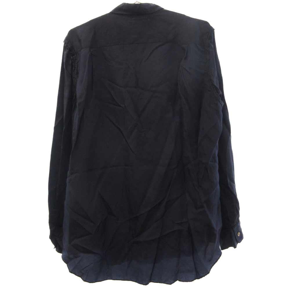PE-B044 AD2001 キュプラ バイカラー長袖シャツ