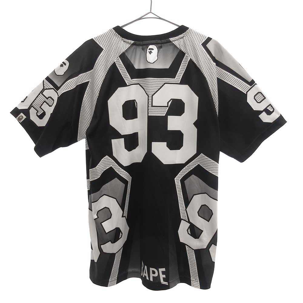 ロゴデザイン フットボール半袖Tシャツ