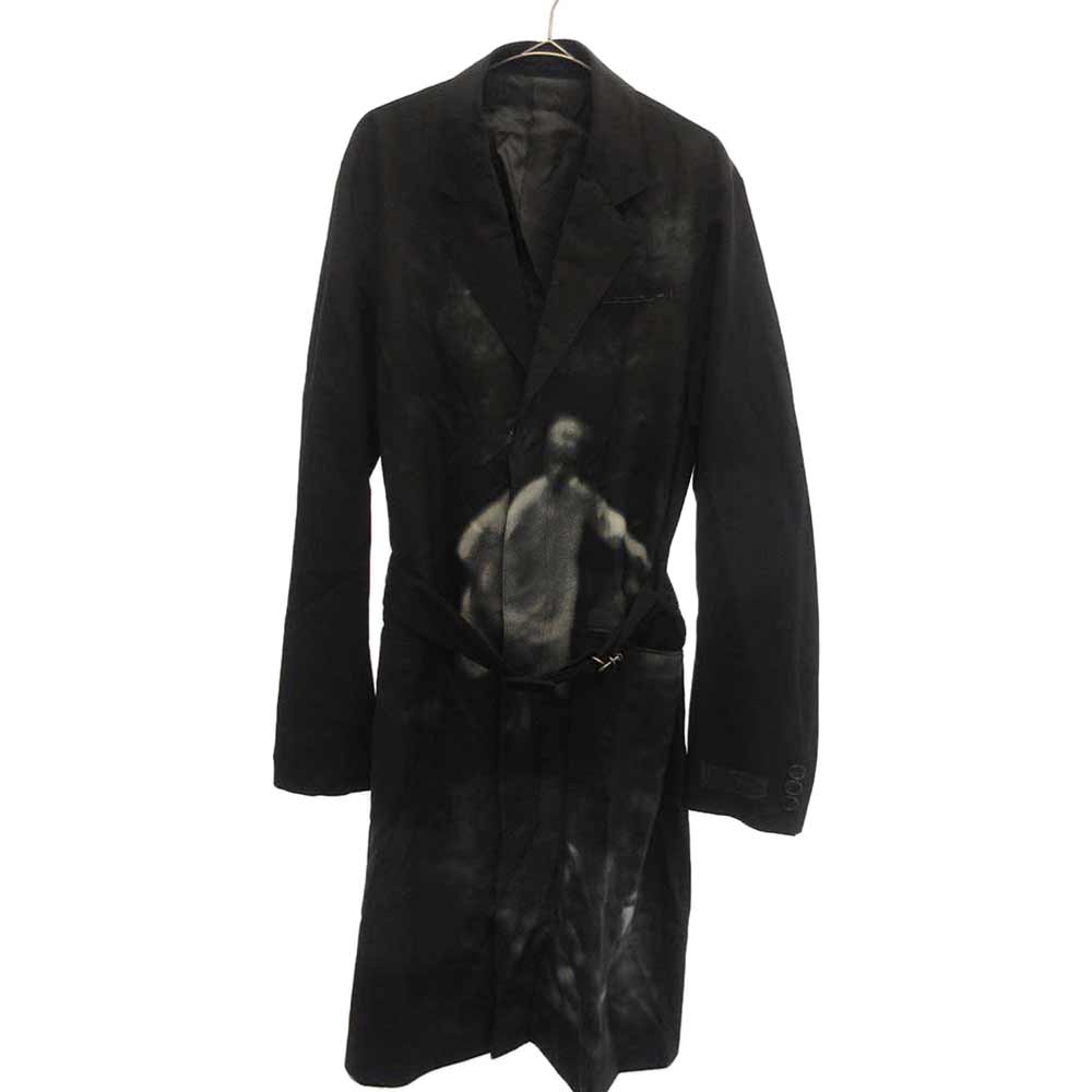 hazy child print coat チャイルドプリントロングコート