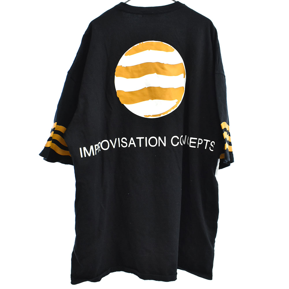 総柄BIG TEE スカルプリントビッグ半袖Tシャツ