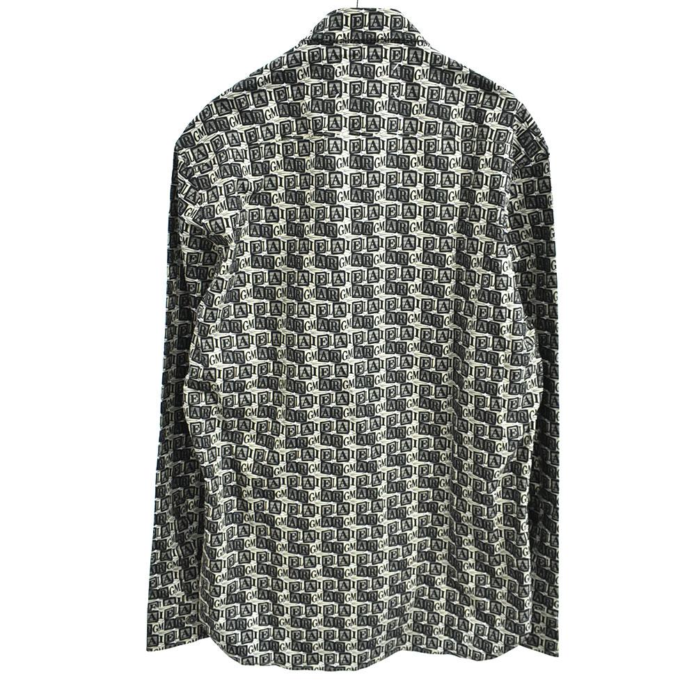 キューブロゴプリント長袖シャツ