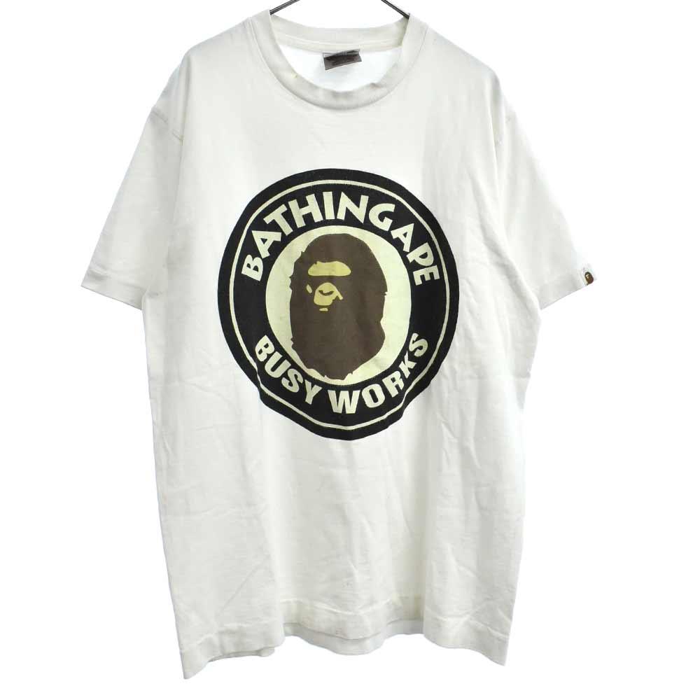 サークルBWSロゴプリント半袖Tシャツ