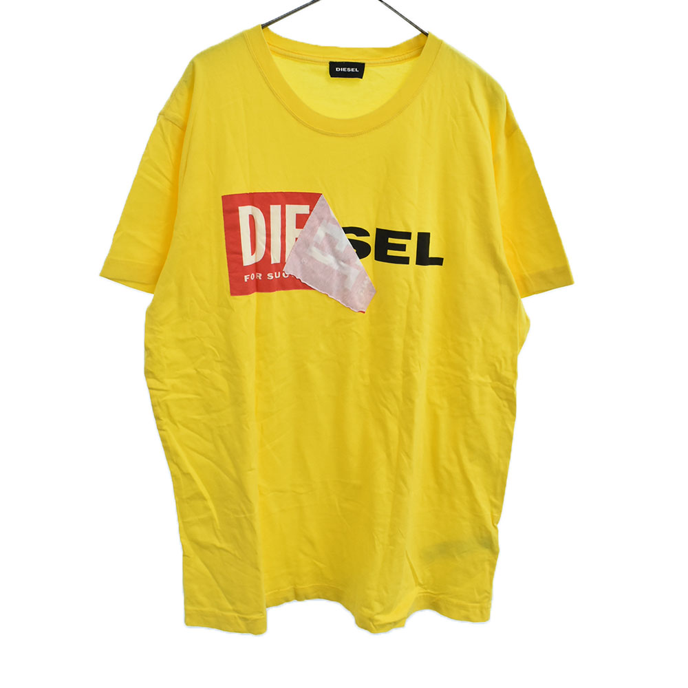 フロントブランドロゴプリント半袖Tシャツ