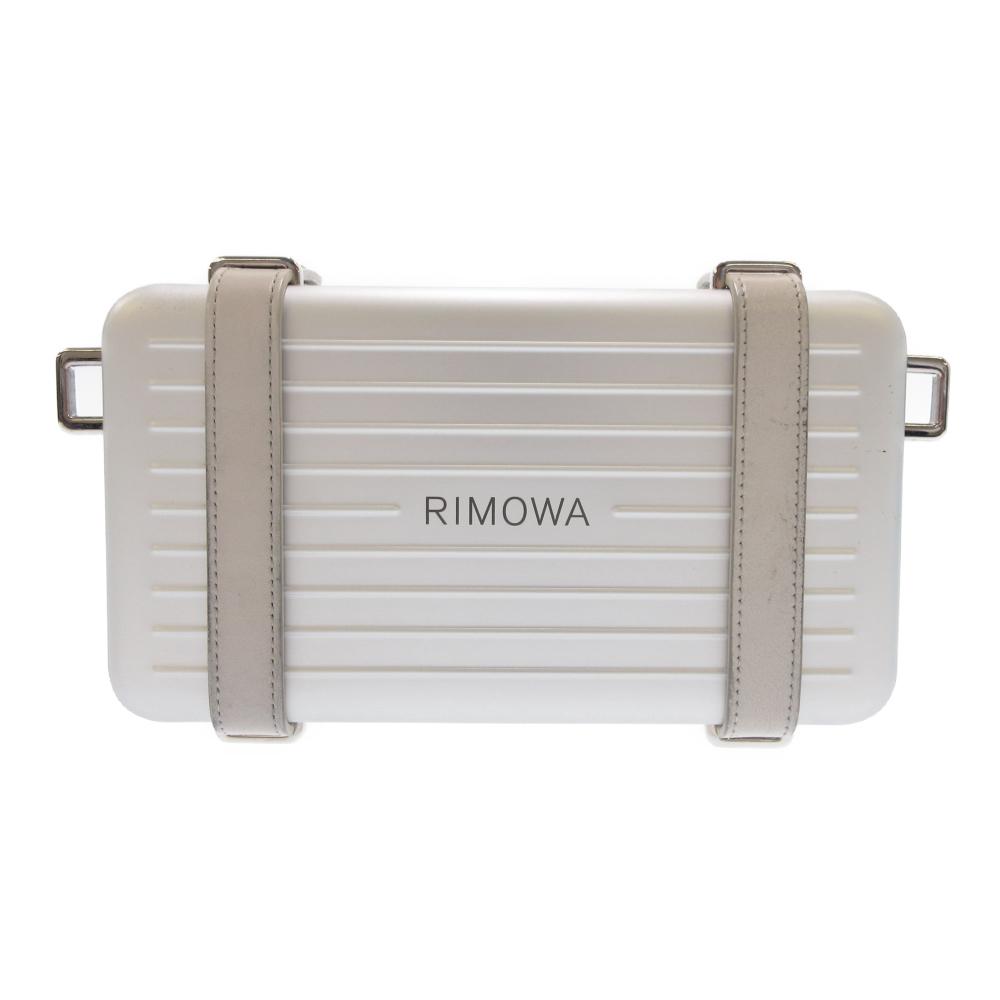 ×RIMOWA 2way パーソナル クラッチバッグ グレインドカーフスキン アルミニウム