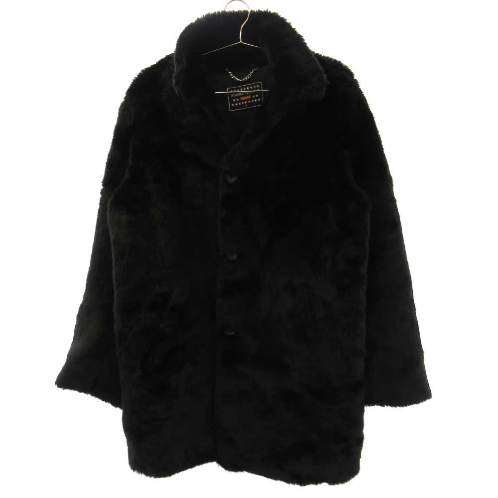 ×HYSTERIC GLAMOUR Fuck You Faux Fur Coat バックFUCKYOUプリントファーコート