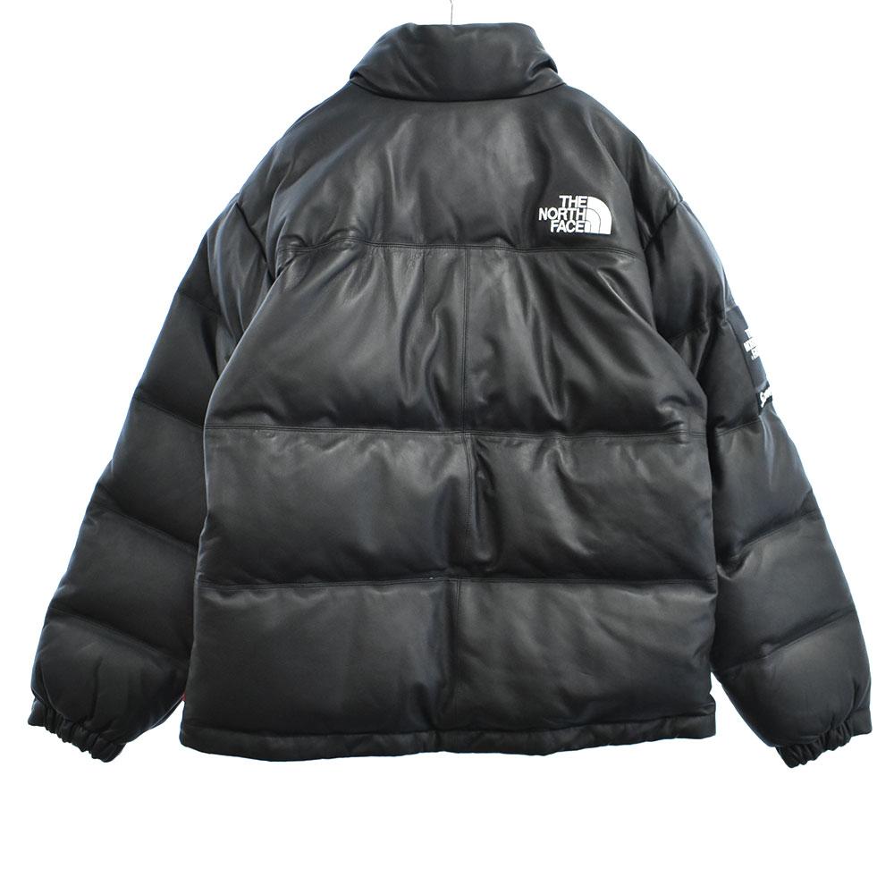 ×THE NORTH FACEノースフェイス Leather Nuptse Jacket レザーヌプシジップアップダウンジャケット