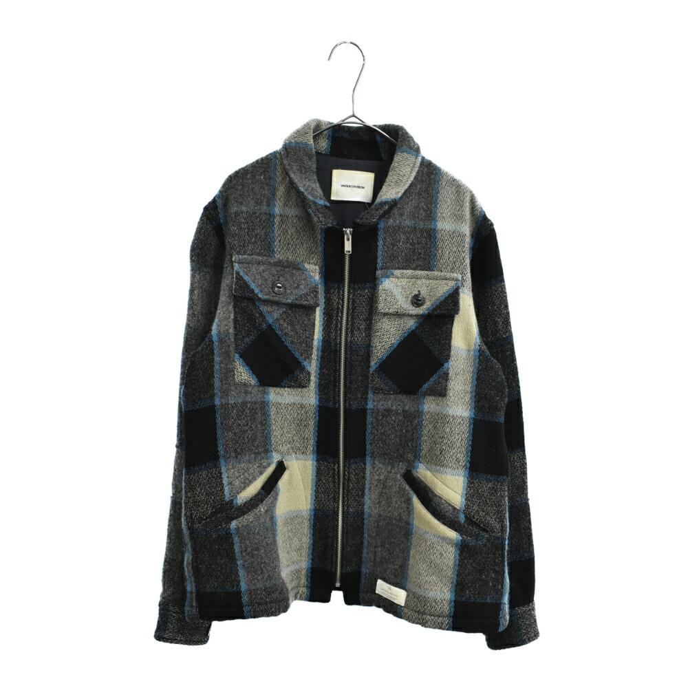 MIRROR期 メルトンチェックシャツブルゾン シャツジャケット
