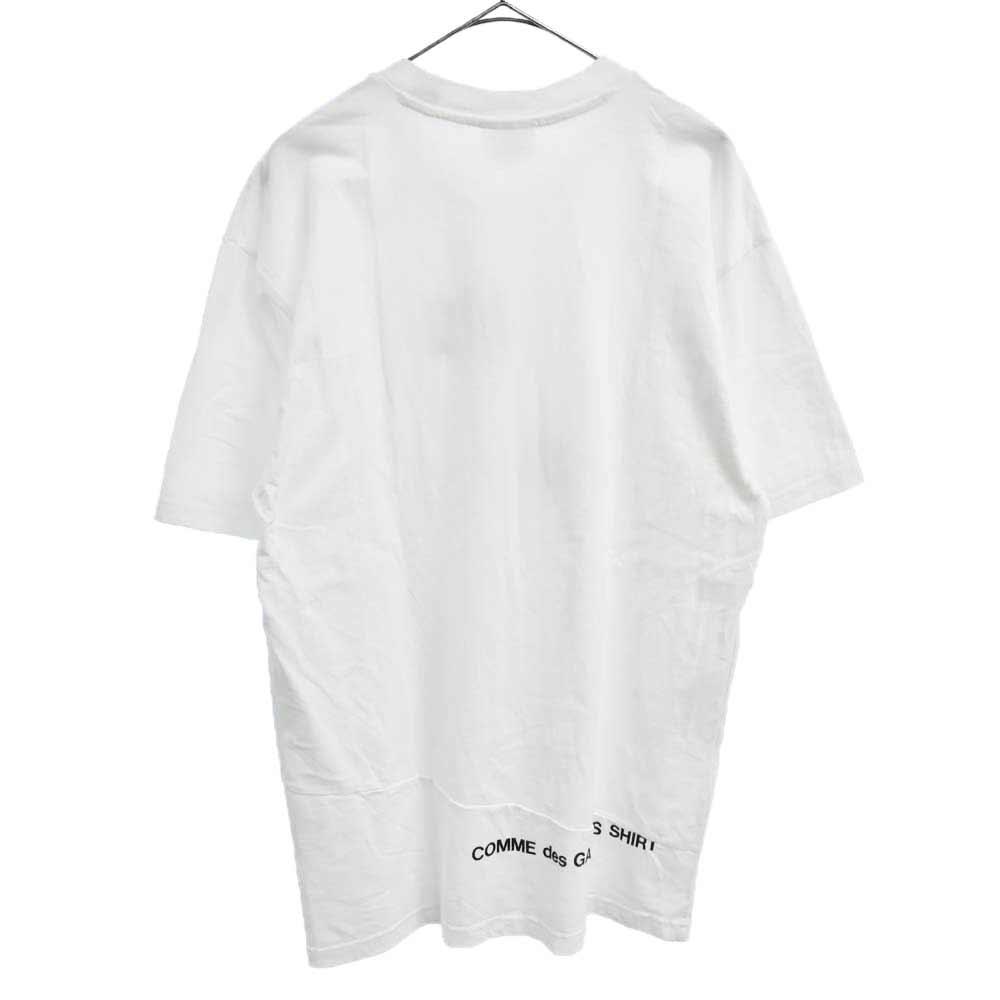 ×COMME des GARCONS SHIRT Split Box Logo Tee コムデギャルソンシャツスプリットボックスロゴ半袖Tシャツ