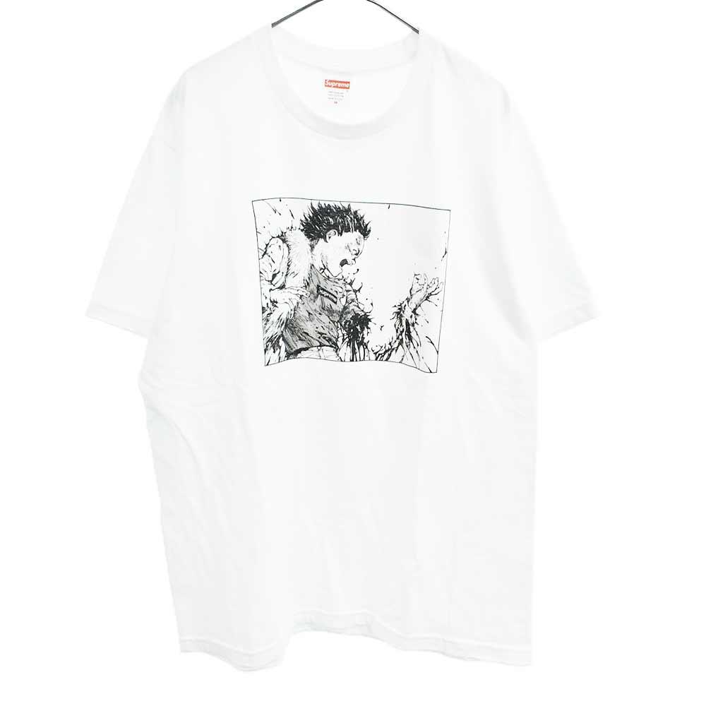 AKIRA Arm Teeアキラフロントプリント半袖Tシャツ