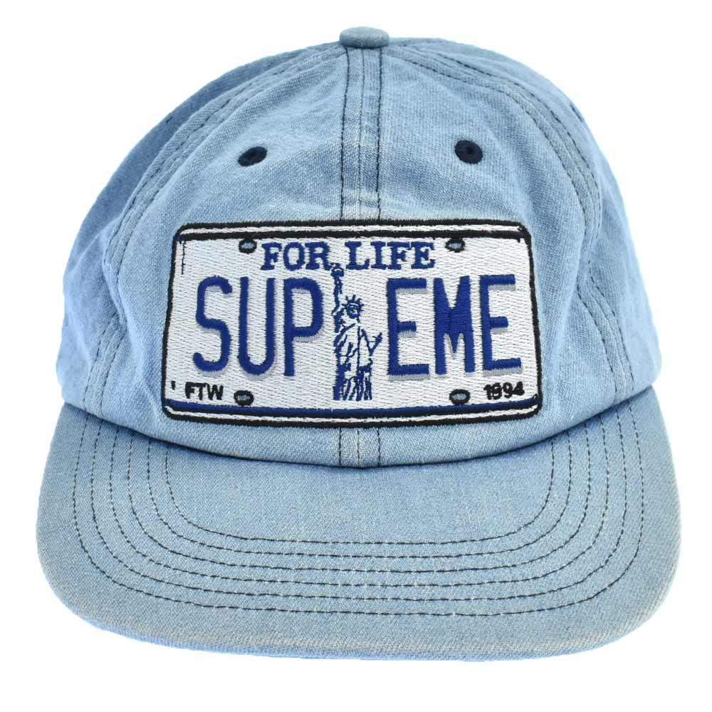 License Plate 6-Panel Cap ライセンスプレートロゴデニム6パネルキャップネイビー 帽子