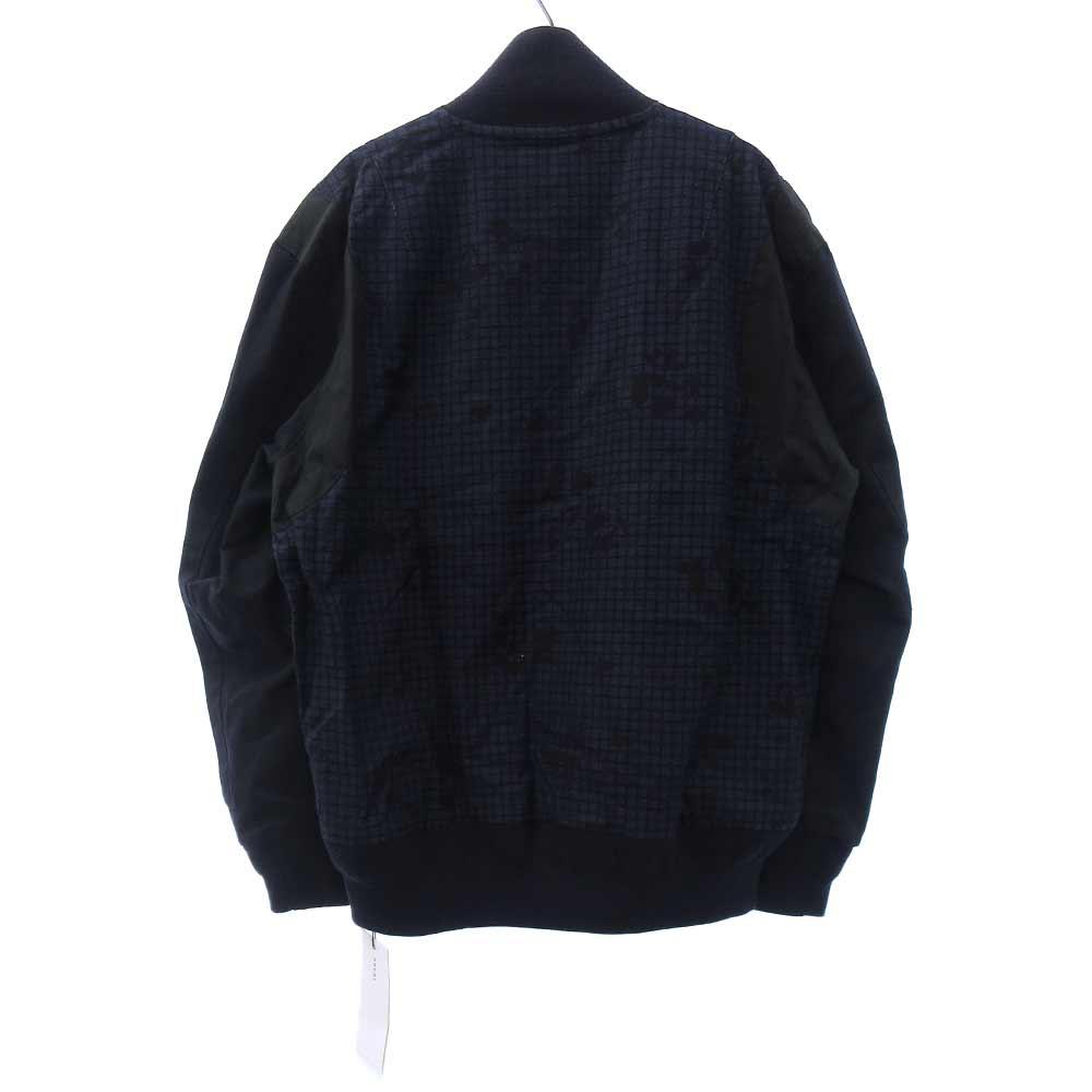 MA1チェック柄ジャケットロゴパッチボンバージャケット