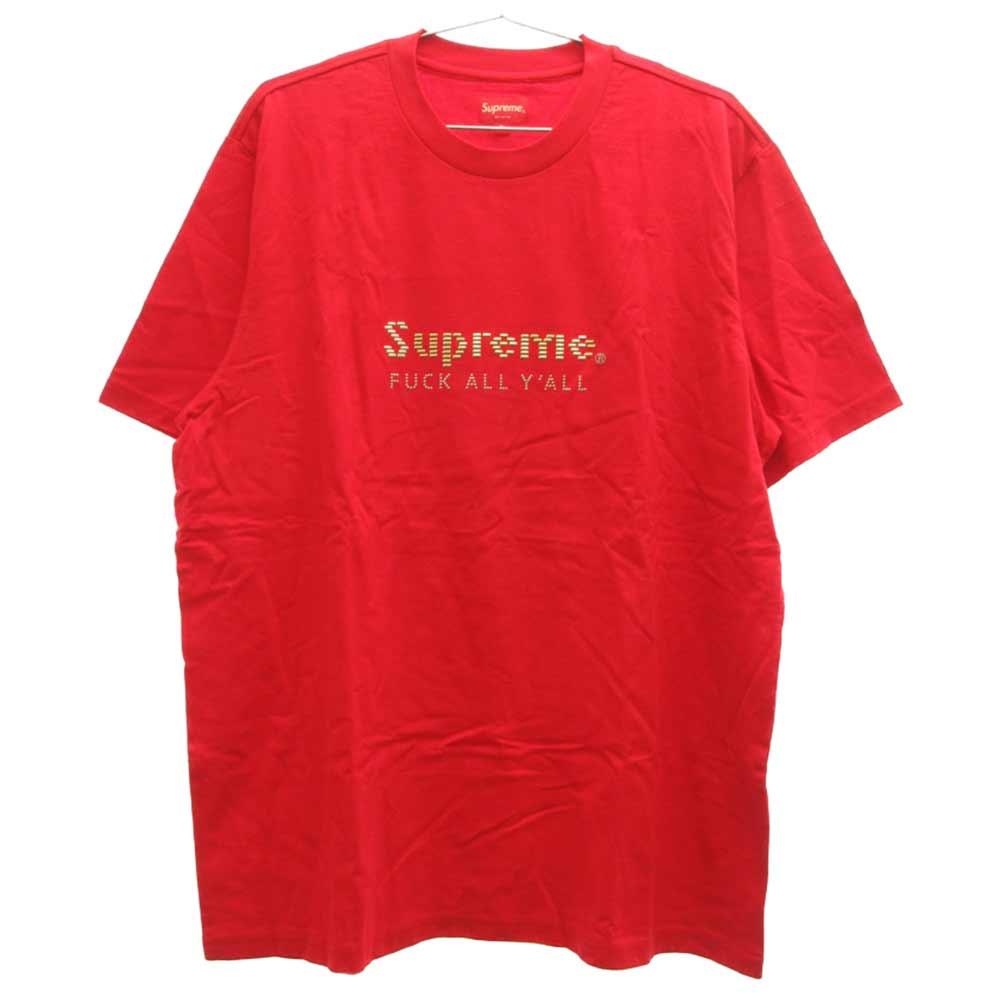 Gold bars Tee Fuck All Y'all ファックユーオールゴールドバーズスタッズロゴ半袖Tシャツ