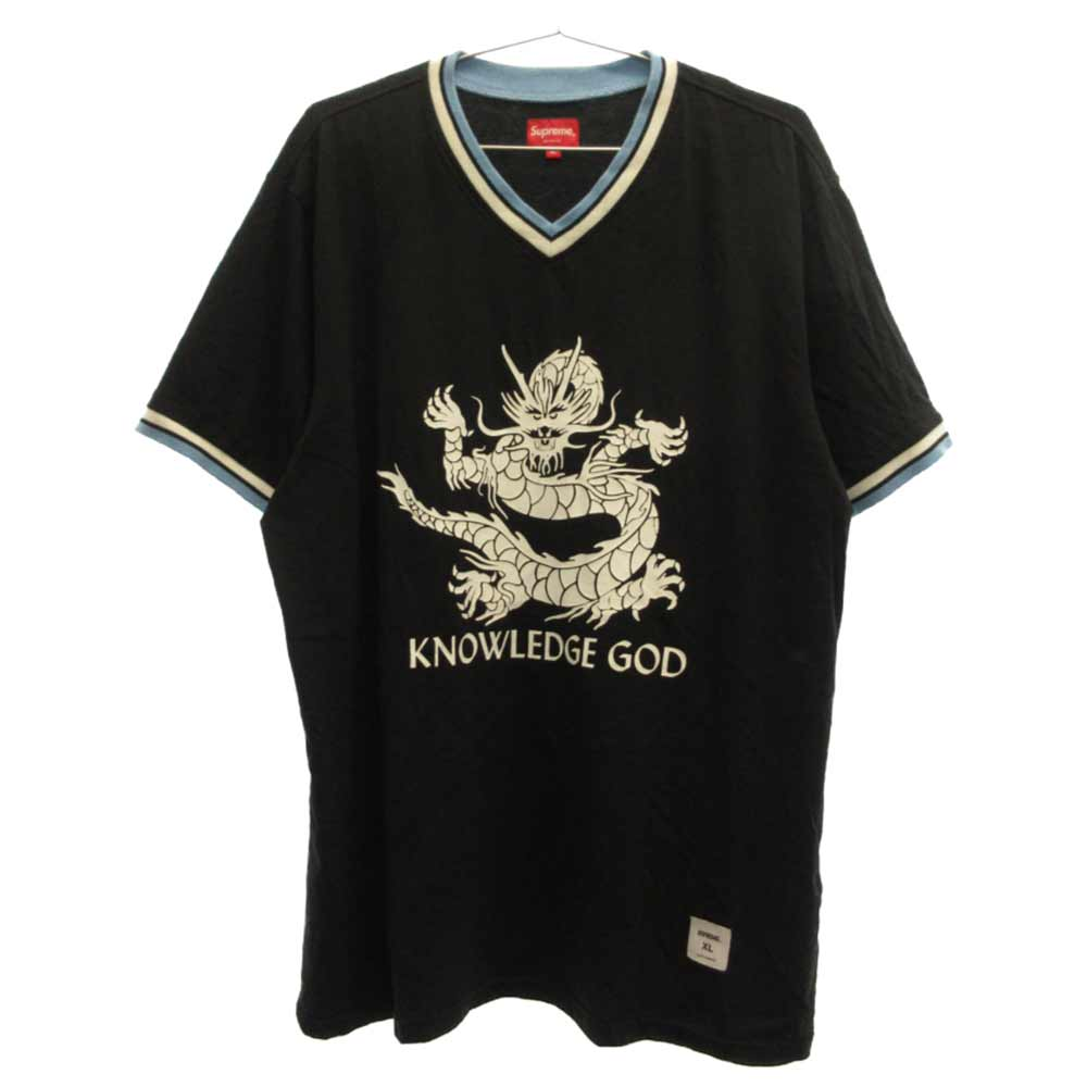 Knowledge God Practice Jersey ドラゴンプリントVネック半袖Tシャツ