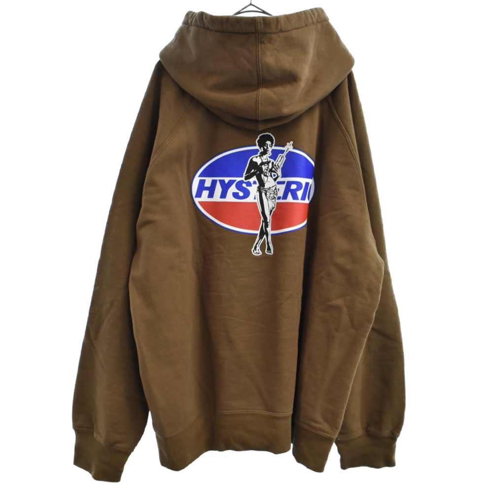 ×HYSTERIC GLAMOUR Hooded Sweatshirt ×ヒステリックグラマー ロゴプリントプルオーバーパーカー