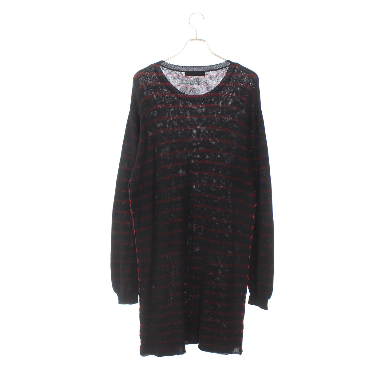 Long boder knit pullover