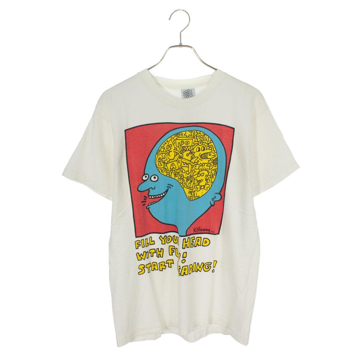 80s キースへリング 脳 Tシャツ