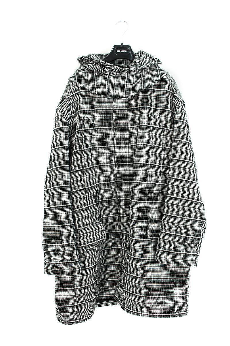 バックパッチデザイン中綿ロングコート
