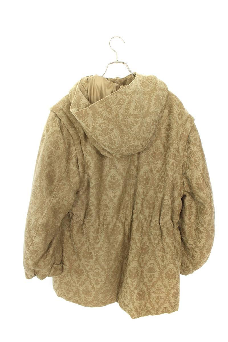 ウール刺繍中綿コート