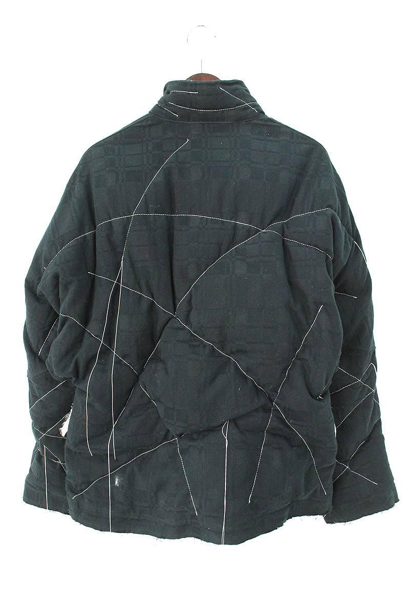 ステッチデザイン中綿ジップアップジャケット