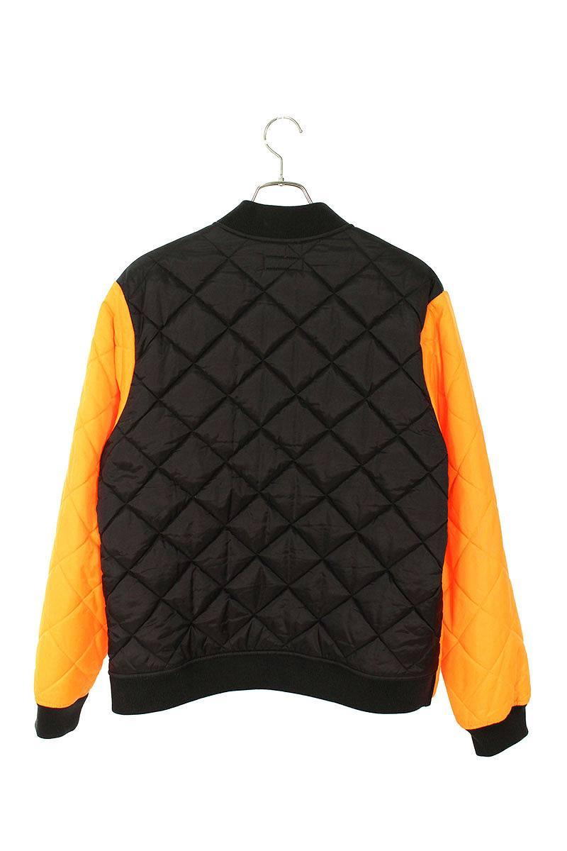 カラーブロックドキルテッドジャケット