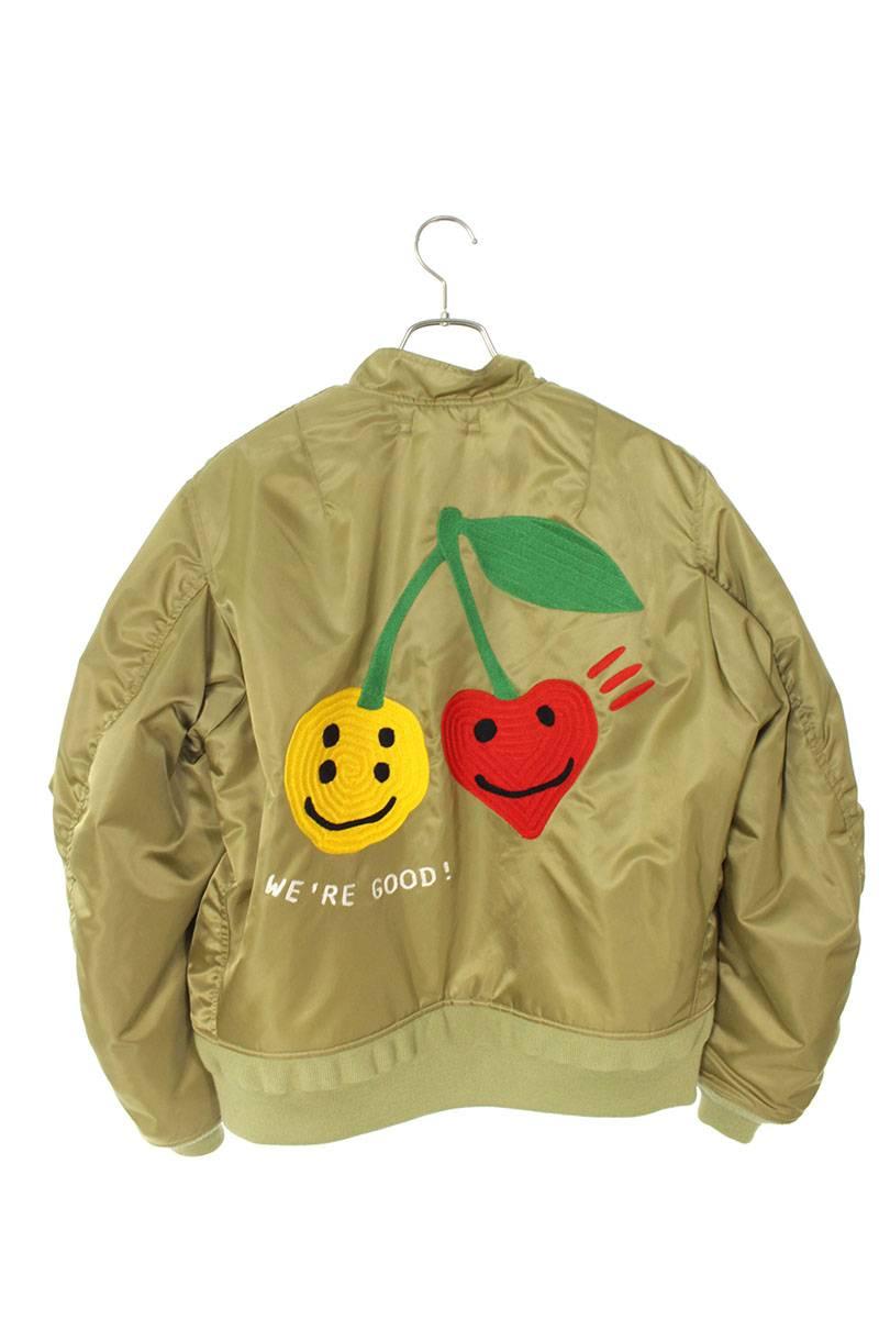 中綿入りいい感じ刺繍フライトジャケット
