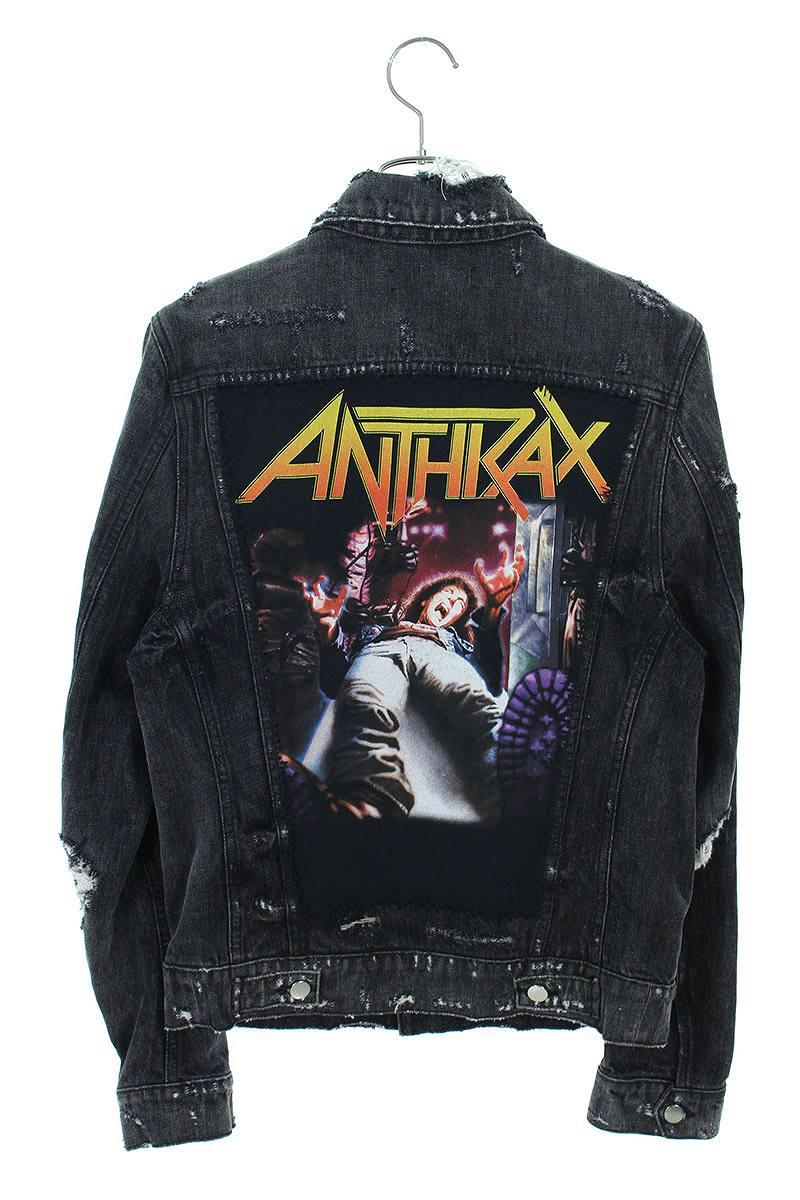 ANTHRAXパッチダメージ加工トラッカーデニムジャケット