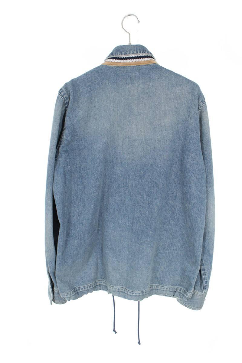 チロリアン刺繍ウォッシュ加工カバーオールデニムジャケット