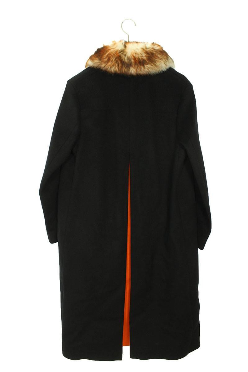ファー装飾ウールコート