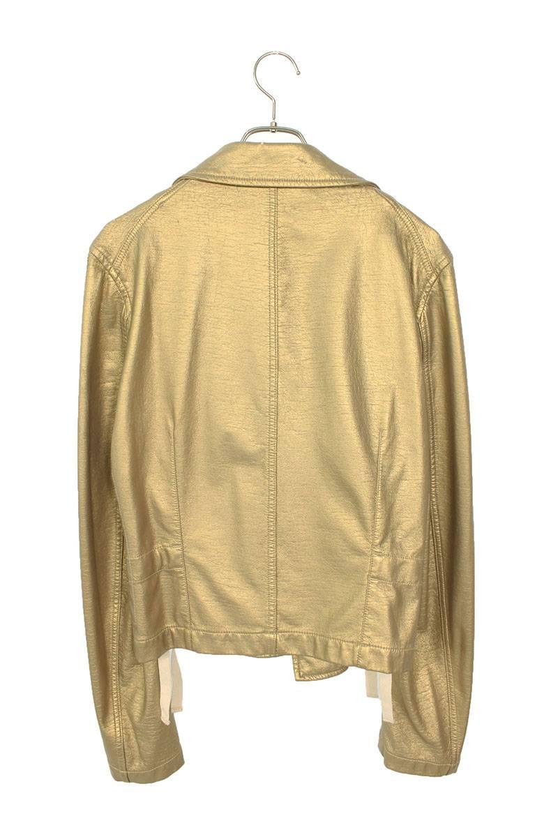 フェイクレザーゴールドレザージャケット