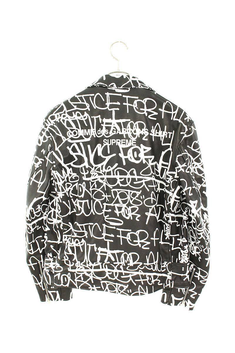 ×Schott バックロゴペイント総柄レザージャケット