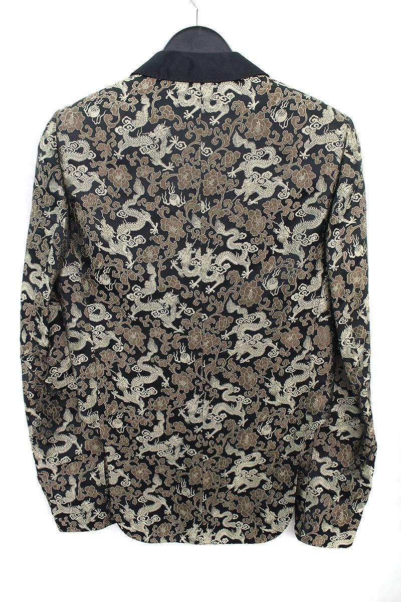 和柄刺繍ショールカラースペンサージャケット