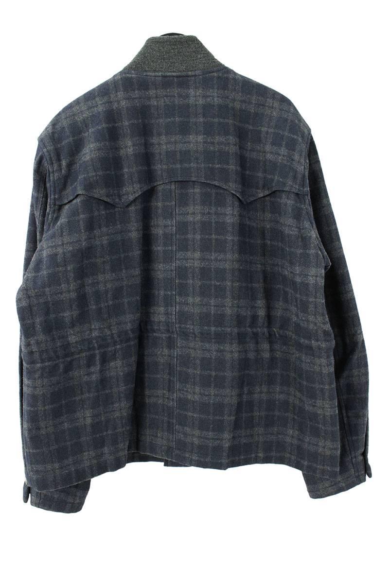 チェック柄ウールジャケット