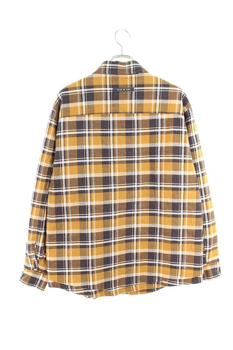 中綿キルティングチェックジャケット
