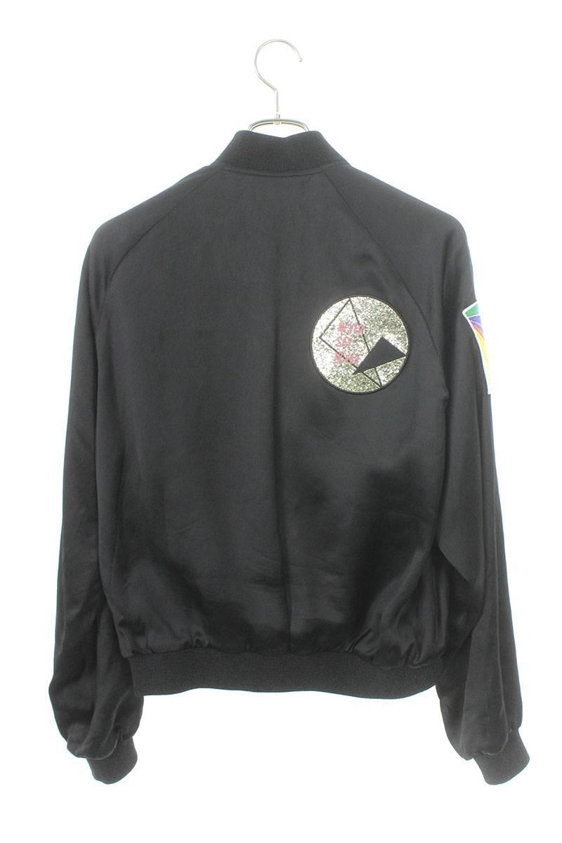テディサーフフィットパッチサテンジャケット