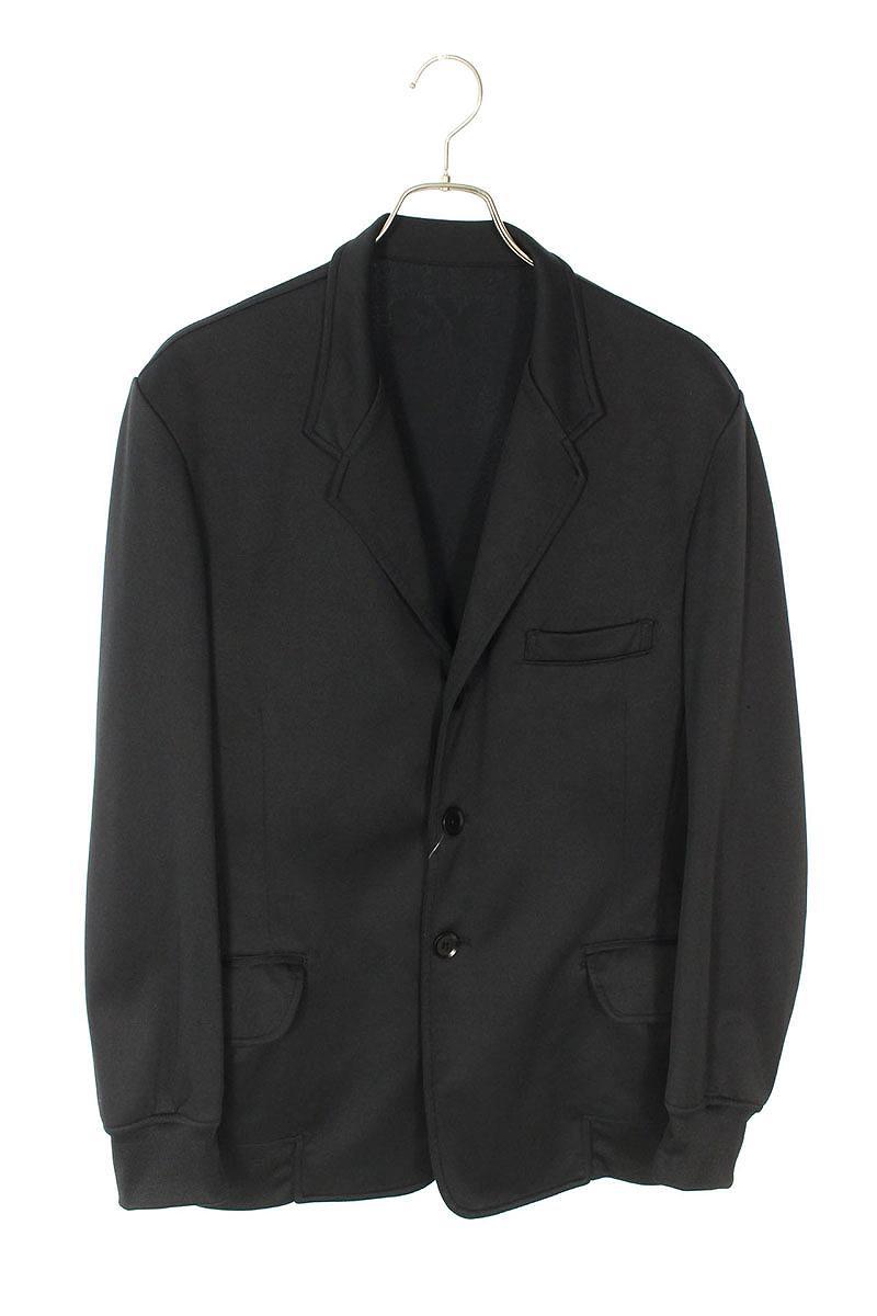 バックロゴプリントノッチドラペル3Bジャージージャケット