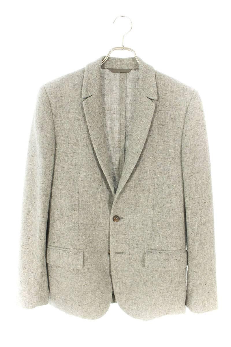 エルボーパッチ付きシルクカシミア混ネップジャケット