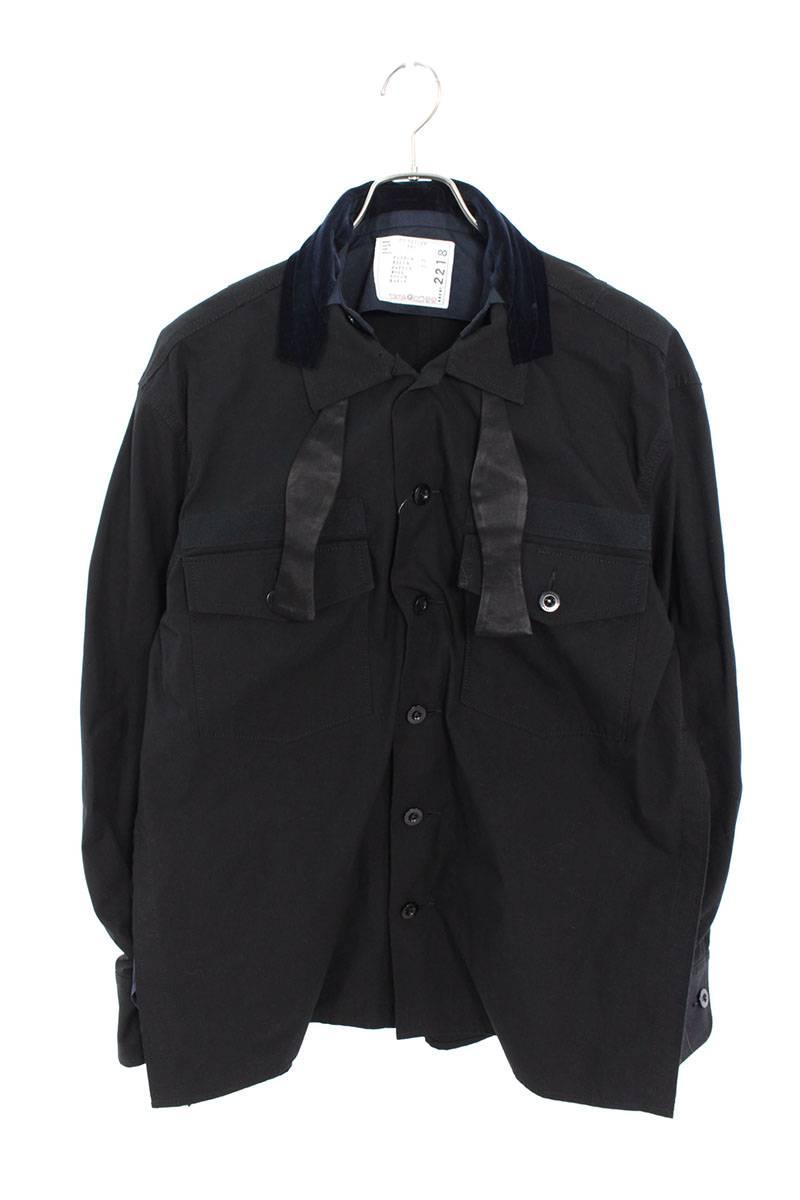 ファブリックコンボシャツジャケット
