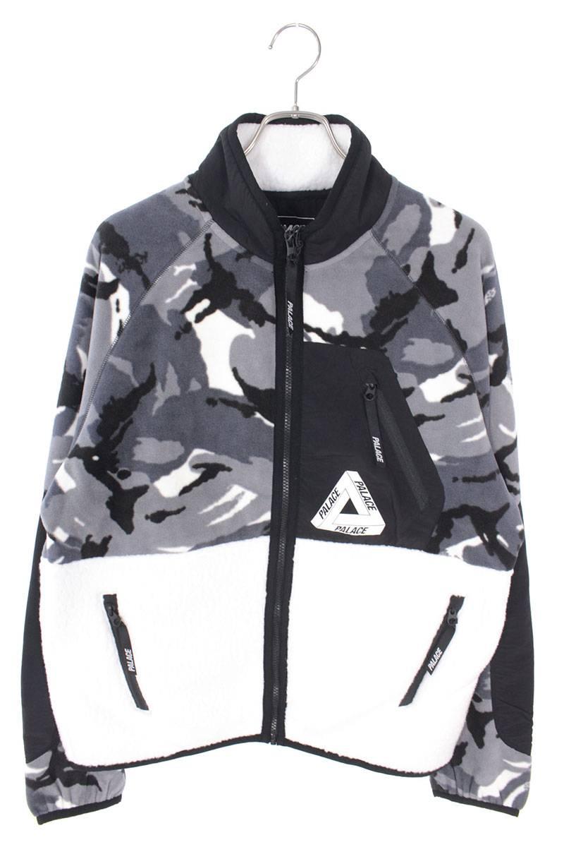 カモフラ柄ジップアップフリースジャケット