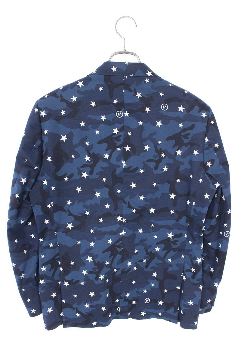 スターカモフラ柄テーラードジャケット