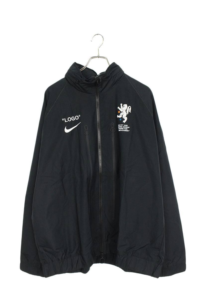 ロゴプリントナイロントラックジャケット
