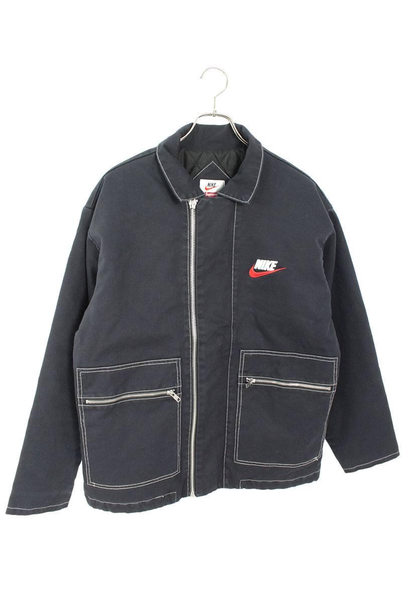 ダブルジップキルテッドワークジャケット