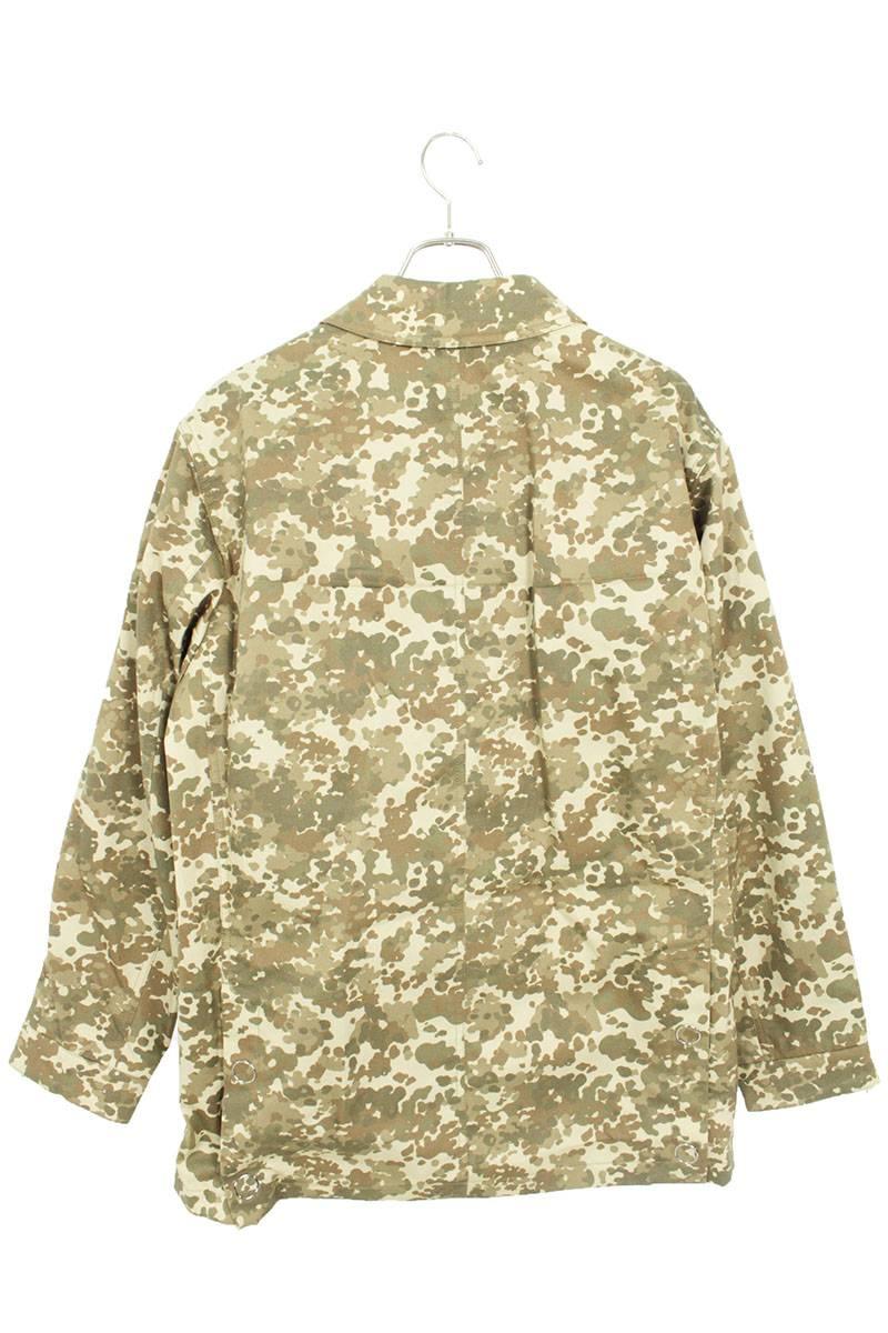 サイドロゴライン迷彩カモフラフィールドジャケット