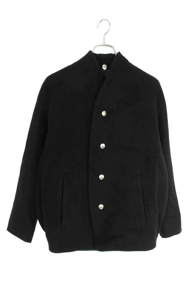 ノーカラーウールジャケット
